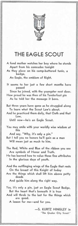 Original Poem - The Eagle Scout by S. Kurtz Hingley